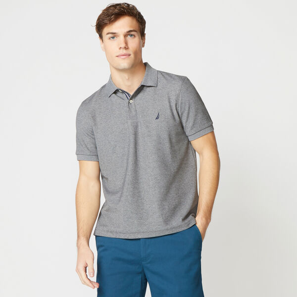 CLASSIC FIT DECK KNIT POLO - Charcoal Heather