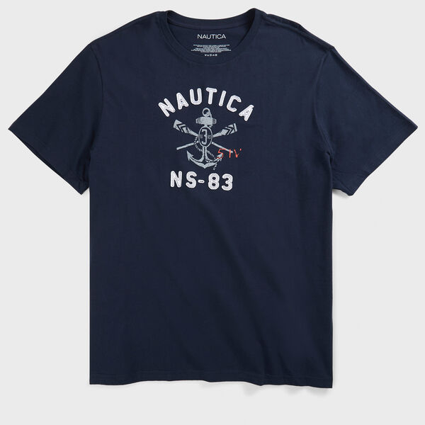 Big & Tall Signature Graphic Short Sleeve Crewneck Tee - True Navy