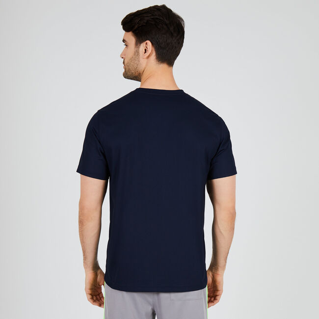 Performance Graphic Crewneck T-Shirt,Navy,large
