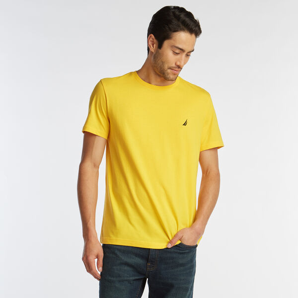 SOLID SHORT SLEEVE CREWNECK T-SHIRT - Lemon Chrome