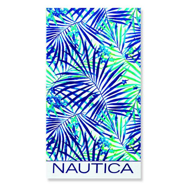 BEACH TOWEL IN MULTI BLUE FLORAL - Ice Blue