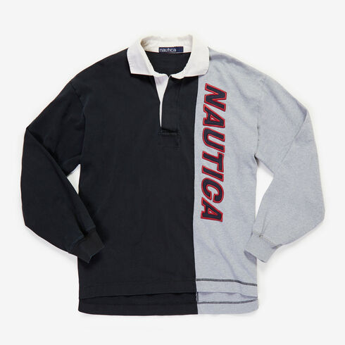 Vintage Nautica Long Sleeve Rugby Polo Shirt - undefined
