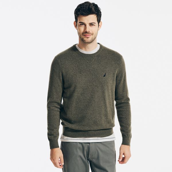 SUSTAINABLY CRAFTED CREWNECK SWEATER - Hillside Olive