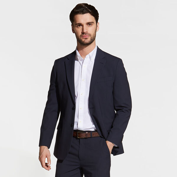 Venture Suit Jacket in Stripe - Tugboat Blue