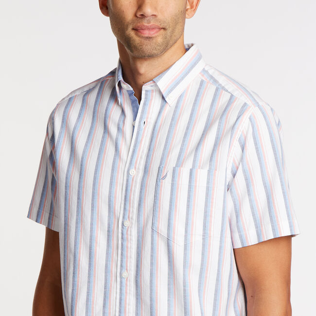 Short Sleeve Classic Fit Oxford Shirt,Blue Depths,large