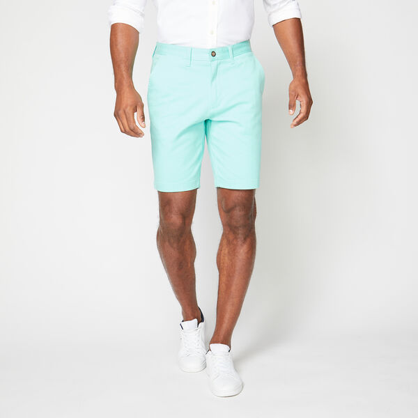 "10"" CLASSIC FIT DECK SHORTS WITH STRETCH - Sage"