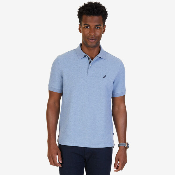 Classic Fit Performance  Polo - Anchor Blue Heather