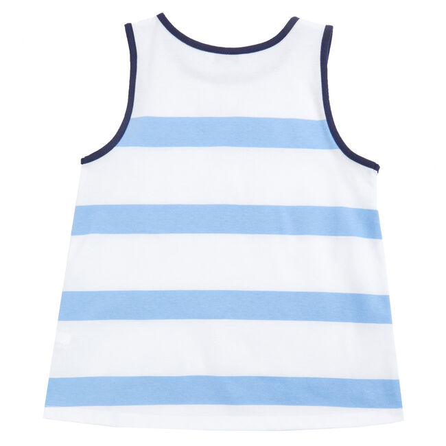 Little Girls' Bold Stripe Tank (2T-7),Coastline Turq,large