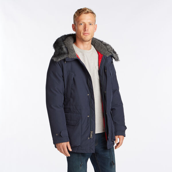 HEAVYWEIGHT HOODED PARKA WITH TEMPASPHERE - Pure Dark Pacific Wash