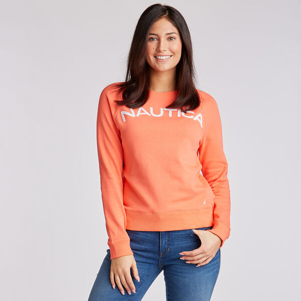 Logo French Terry Pullover - Vibe Orange