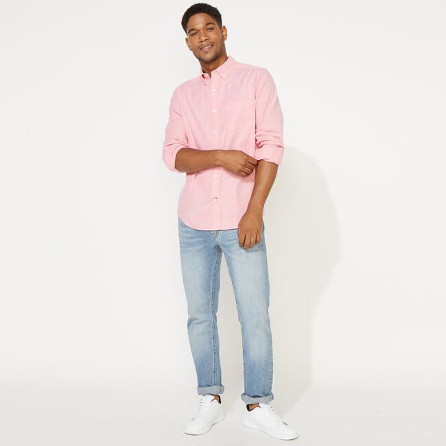 SOLID OXFORD SHIRT,Coral Dream,large