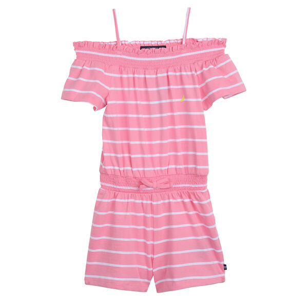 GIRLS' COTTON ROMPER - Pale Pink