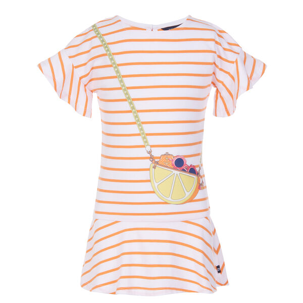 GIRLS' PRINTED PURSE T-SHIRT DRESS (8-20) (00193579981709 Kids Dresses & Skirts) photo
