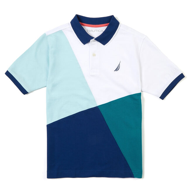 fe5b71c12ca Boys' Short Sleeve Abstract Colorblock Polo (8-16),Workshirt,large ...