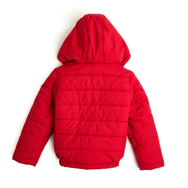 Little Boys' Arthur Logo Chest Bubble Jacket (4-7),Dark Acacia,large
