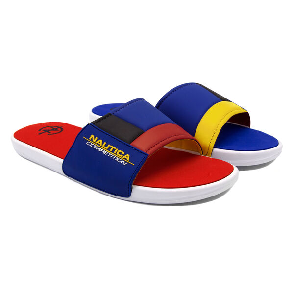 NAUTICA COMPETITION SLIDE IN MULTI COLORBLOCK - Cobalt Wave