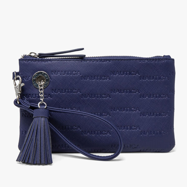 LOGO WRISTLET WITH DETACHABLE STRAP - Navy
