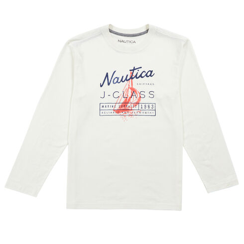 Little Boys' Marine J Class Supply Long Sleeve Tee  (4-7) - Chalk