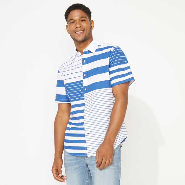 CLASSIC FIT FASHION STRIPE SHIRT - Windsurf Blue