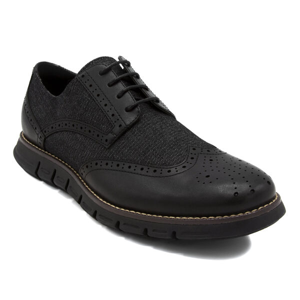 Wingdeck Oxfords - Black & Denim - True Black