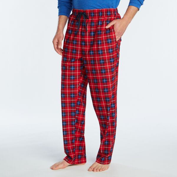 PLAID FLEECE SLEEP PANT - Nautica Red