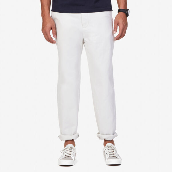 Flat Front Classic Fit Deck Pants - Nautica Stone