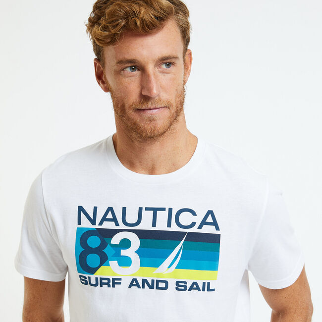 Surf & Sail '83 Ombre T-Shirt,Bright White,large