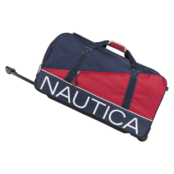 "Newton Creek 26"" Wheeled Duffel Bag in Navy/Red - Pure Dark Pacific Wash"