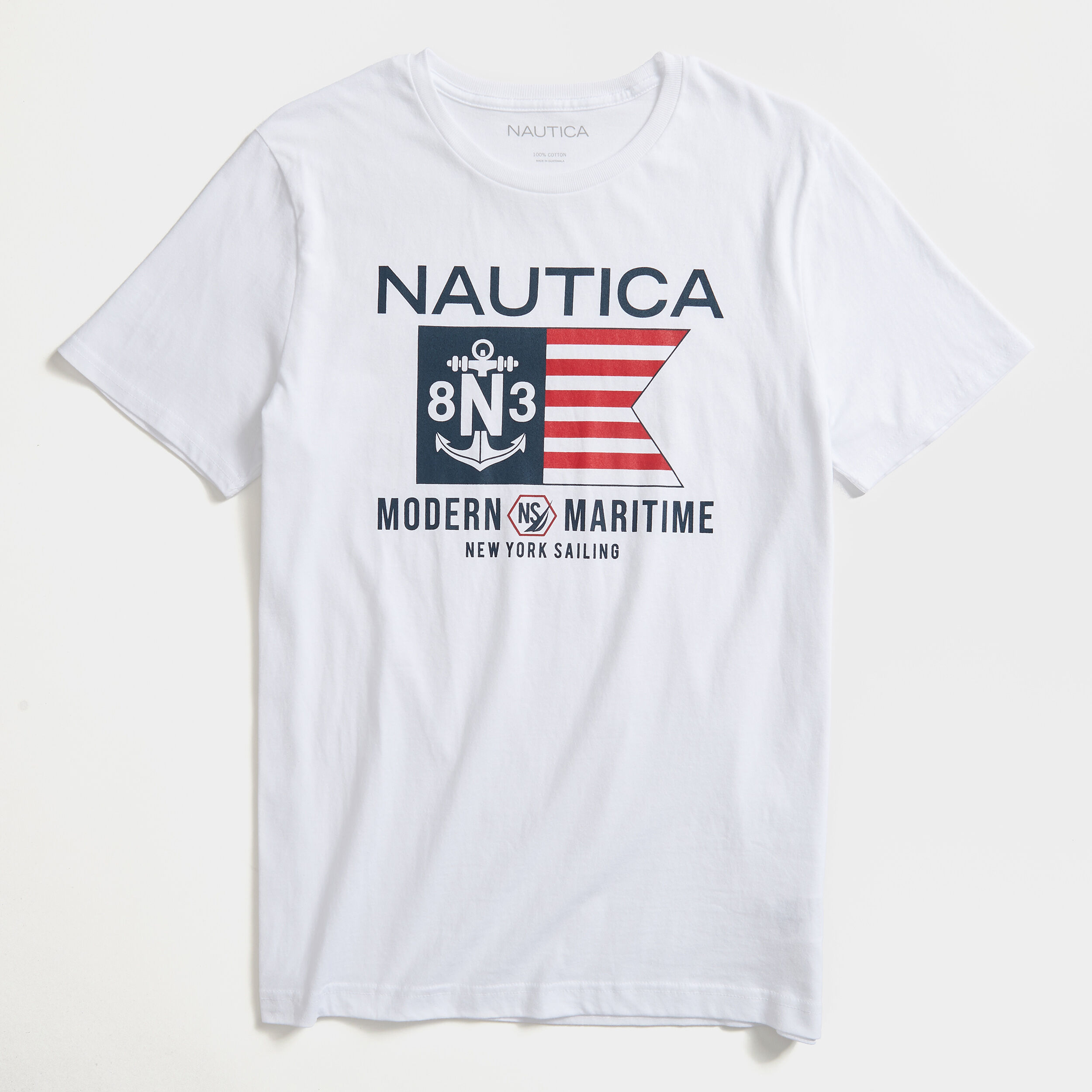 Design By Humans Nautica Girls Youth Graphic T Shirt
