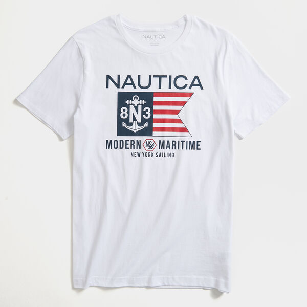 MARITIME GRAPHIC T-SHIRT - Bright White