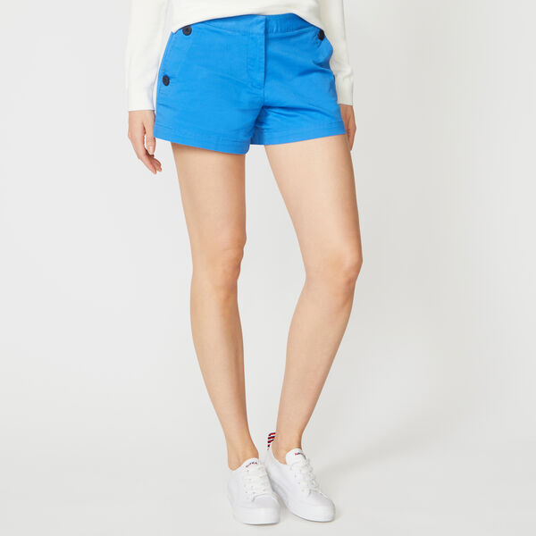 "4"" STRETCH TWILL SAILOR SHORTS - Reef Blue"