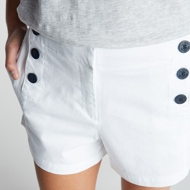 """4"""" Stretch Twill Sailor Short,Bright White,large"""