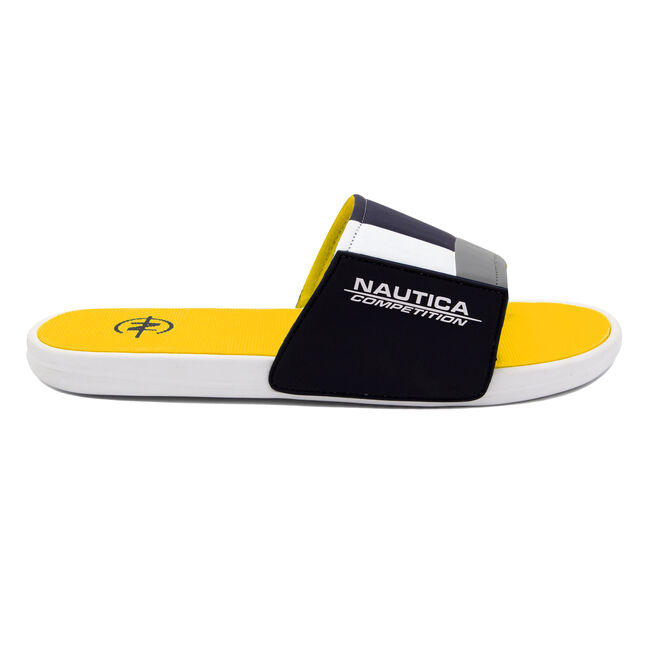 NAUTICA COMPETITION SLIDE IN YELLOW COLORBLOCK,Nautica Yellow,large
