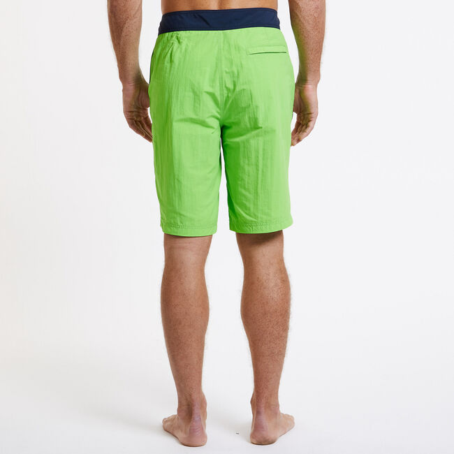 Contrast Waistband Board Short,Fresh Lime,large