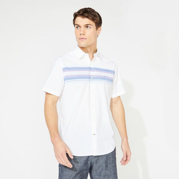 STRIPED SHORT SLEEVE SHIRT - Bright White