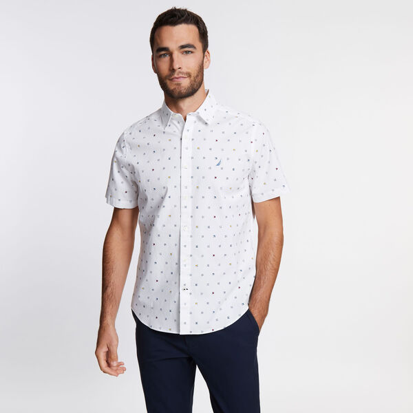 Navtech Short Sleeve Classic Fit Shirt - Bright White