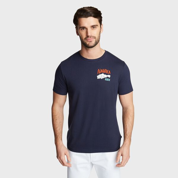 SOUTH HARBOR GRAPHIC T-SHIRT - Navy