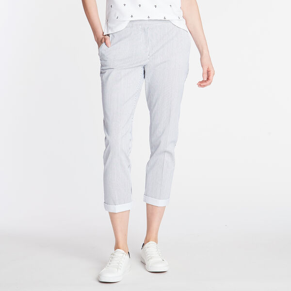 CLASSIC FIT CHINO PANT IN STRIPE - Bright White