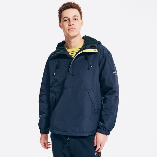 SUSTAINABLY CRAFTED REVERSIBLE ANORAK JACKET - Navy