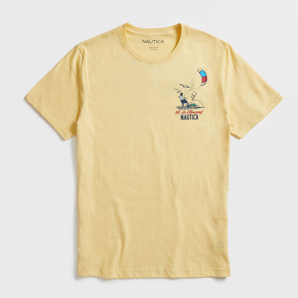 KITESURFING GRAPHIC T-SHIRT - Light Gold