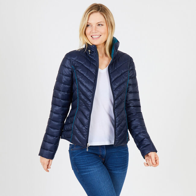 Reversible Packable Puffer Jacket,Stellar Blue Heather,large