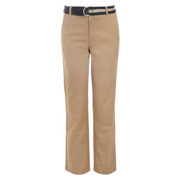 BOYS' STRETCH WAIST BELTED PANT (8-20) - Woodrift Flax