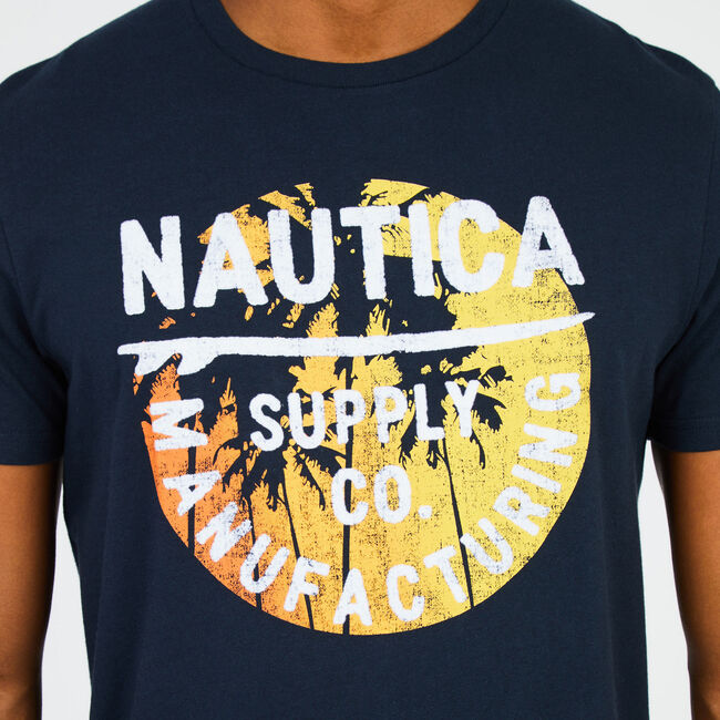 Big & Tall Graphic Signature T-Shirt,True Navy,large