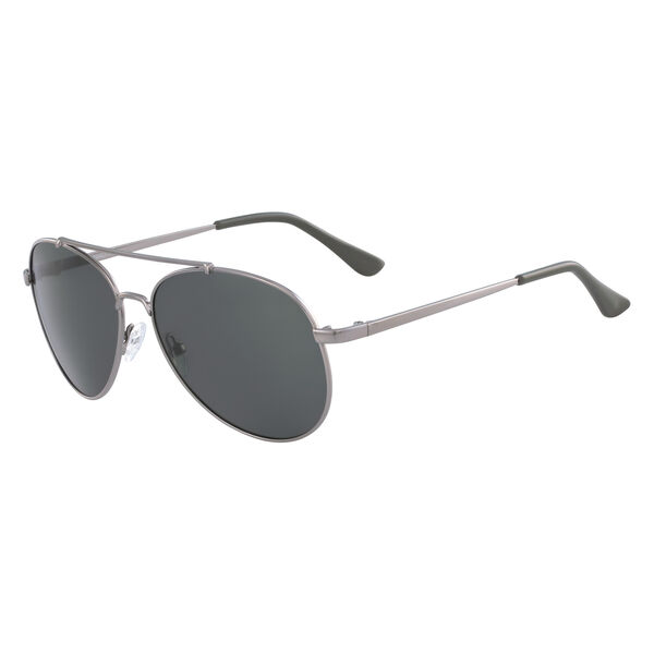 Aviator Sunglasses with Gunmetal Frame - Gunmetal Grey