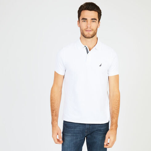Short Sleeve Slim Fit Performance Deck Polo - Bright White