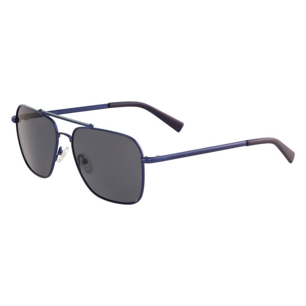 Navigator Sunglasses with Matte Frame - Navy