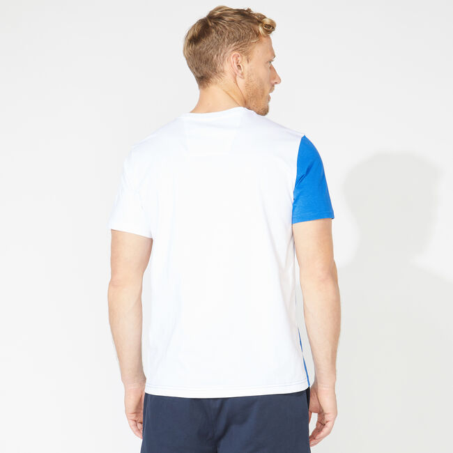 COLORBLOCK POCKET TEE,Bright White,large