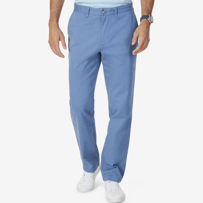 Classic Fit Stretch Twill Deck Pant,Anchor Blue Heather,large