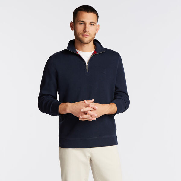 CLASSIC FIT FULL ZIP BOMBER JACKET - Navy