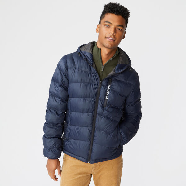 HOODED JACKET - Navy